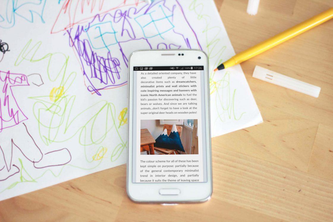 Vista móvil del artículo publicado