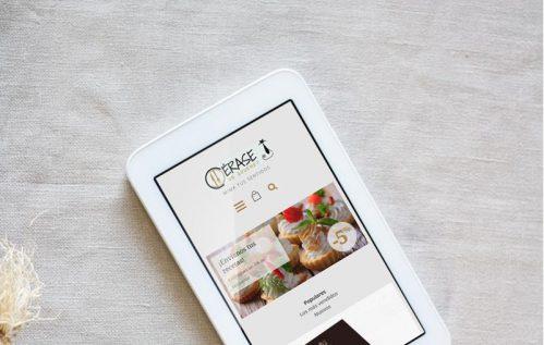 La tienda online en la tablet
