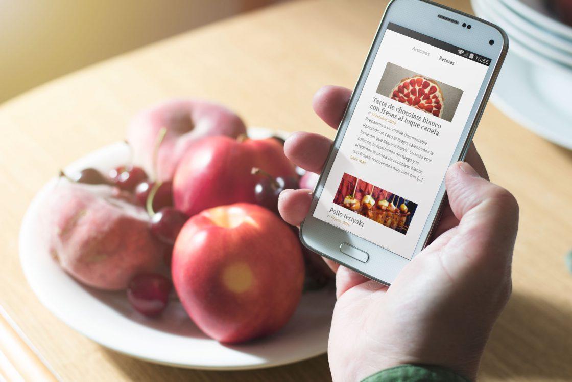 El blog de la tienda online en versión móvil