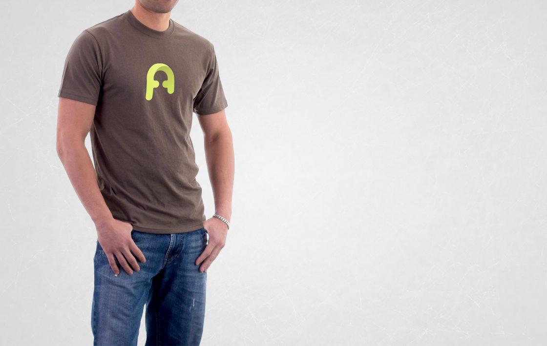 Logotipo en una camiseta