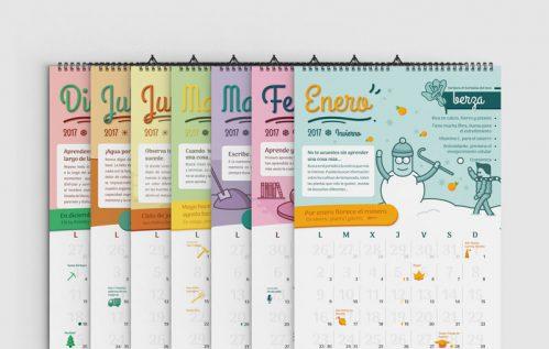 Algunas páginas del calendario