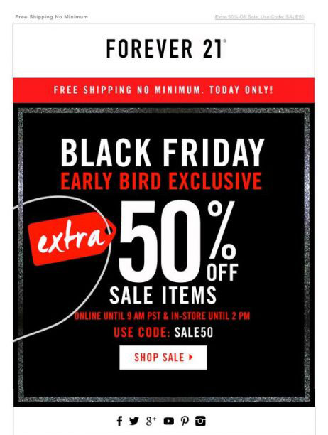 Email marketing - black friday - early birds
